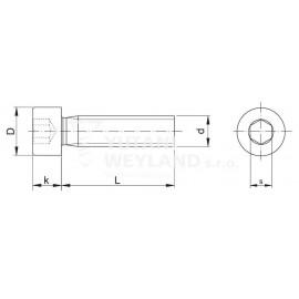 Šroub s válcovou hlavou a vnitřním šestihranem IMBUS DIN 912