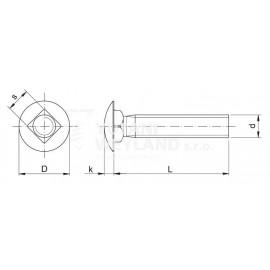 Šroub vratový DIN 603