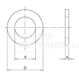 Podložka plochá DIN 125A