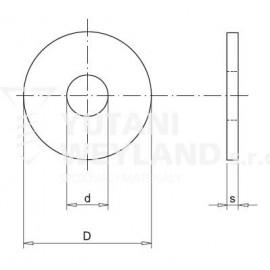 Podložka pro dřevěné konstrukce DIN 440R