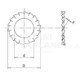 Podložka vějířová DIN 6798A