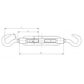 Napínač hák - hák DIN 1480